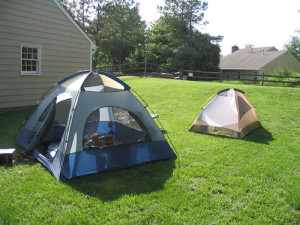 Backyard Camping is cheap and easy!