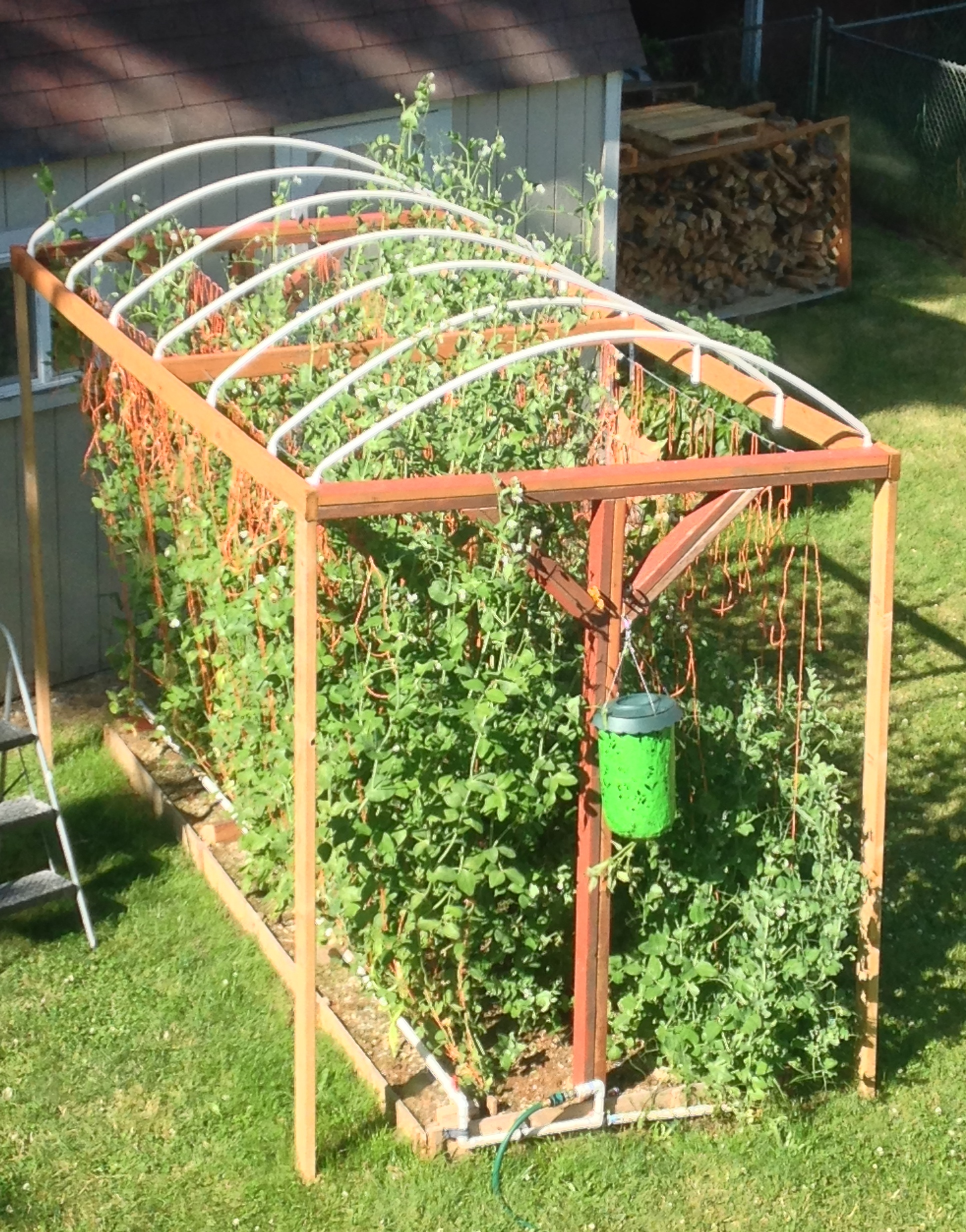We decided that our next trellis system will be more simple to make and wouldnu0027t need so many holes to be dug. I saw someone posting on Facebook picture of ...  sc 1 st  Moms Simple Life & How to Build a trellis system for vertical growing | Moms Simple Life