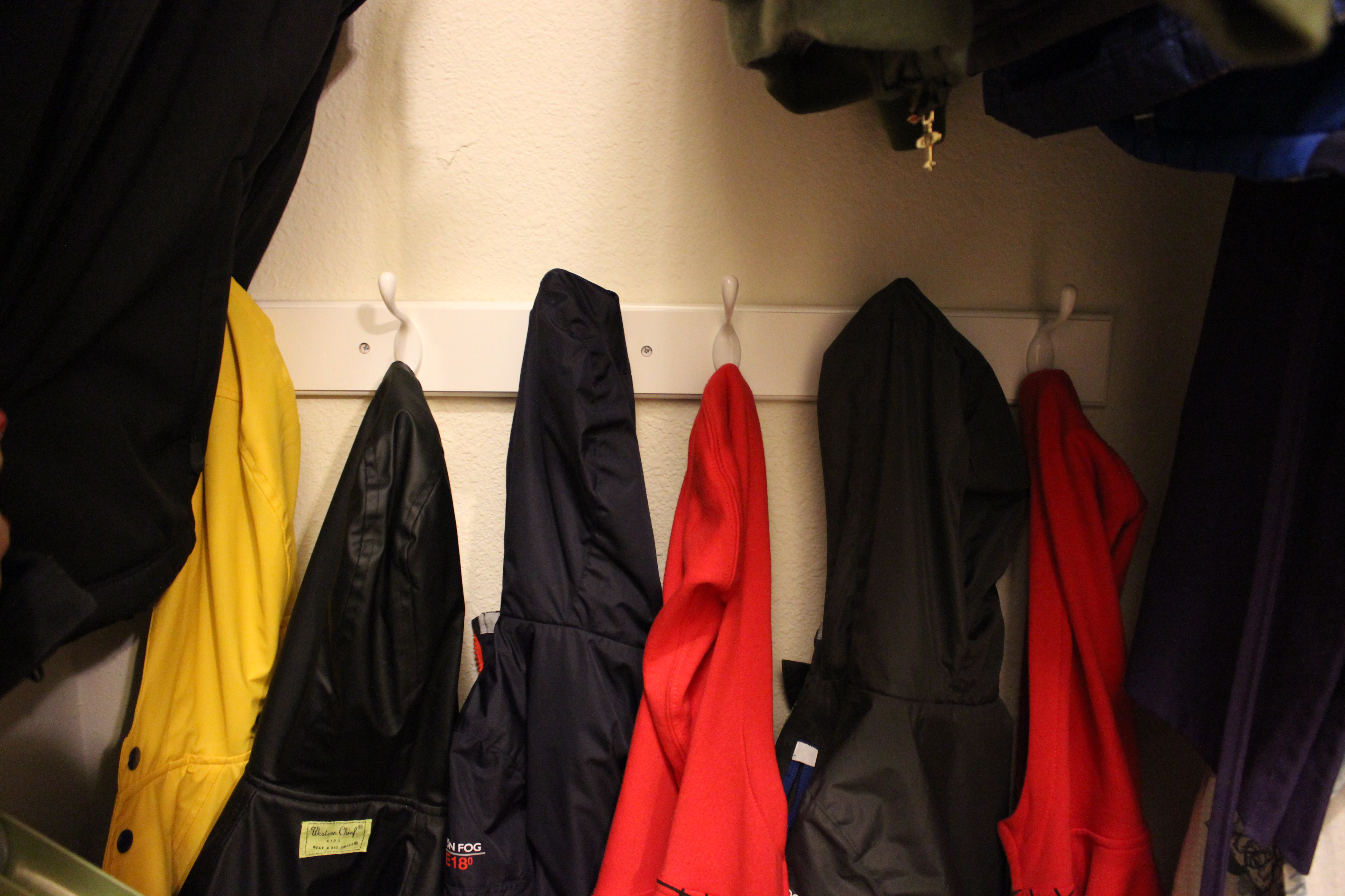 In The Back Of The Closet I Hung Up A 6 Hook Coat Hanger For My Sons To  Hang Their Own Coat Up. I Really Enjoy This, Because It Teaches  Responsibility And ...